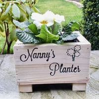 Personalised Wooden Engraved Planters
